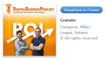Digital Business Podcast è su iTunes