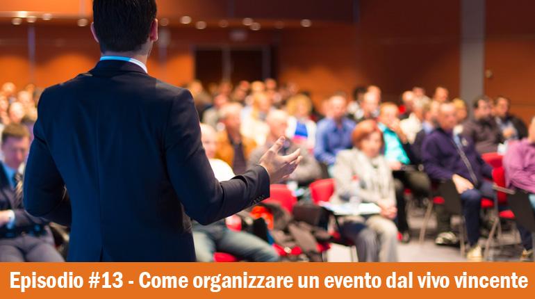 organizzare eventi dal vivo